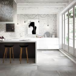 Modern Kitchen Flooring Ideas by Best 25 Concrete Tiles Ideas On Grey Large
