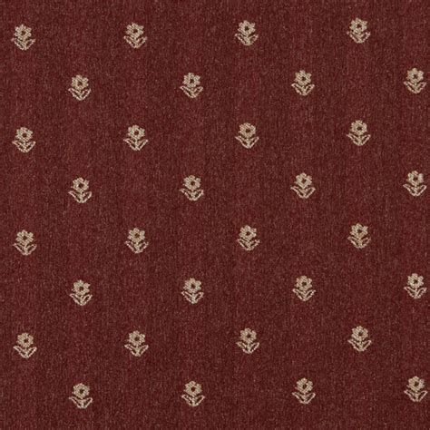 rustic upholstery fabric rustic red and beige flowers country tweed upholstery