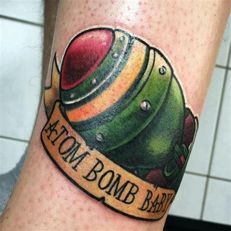 atomic bomb tattoo mininuke atombomb atom bomb baby fallout newschool