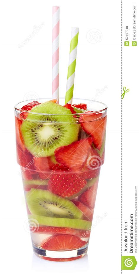 Strawberry And Kiwi Detox Water by Detox Water Stock Photo Image 52407318