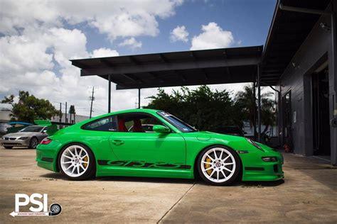 Wheels Porsche 911 Gt 3 Rs green porsche 911 gt3 rs rides on white hre wheels gtspirit