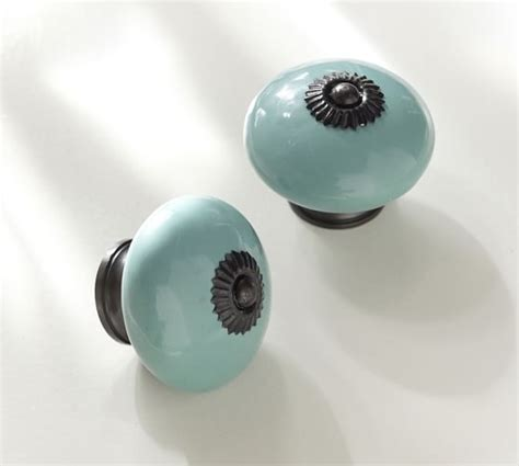 Pottery Barn Knobs by Turquoise Ceramic Knob Pottery Barn