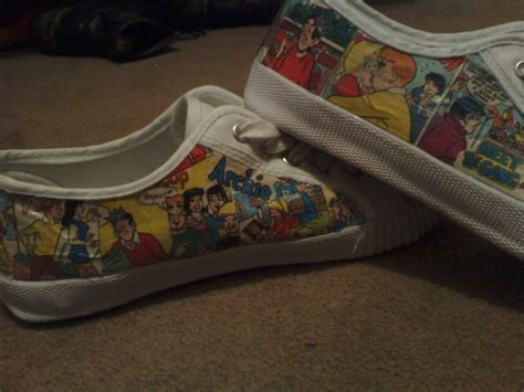 diy comic shoes comic shoes 183 how to make a pair of decoupage shoes
