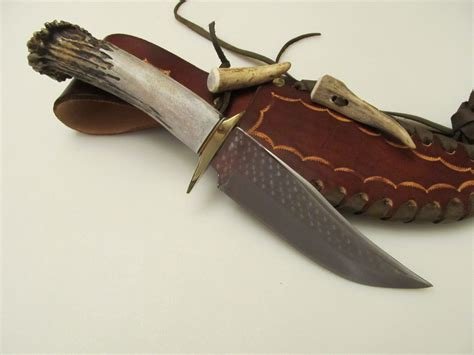 stag handle bowie knife 6 bowie ken richardson antler horn stag handle knife