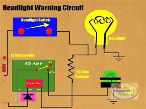 light tester locates bad bulbs how to connect headlight warning relay