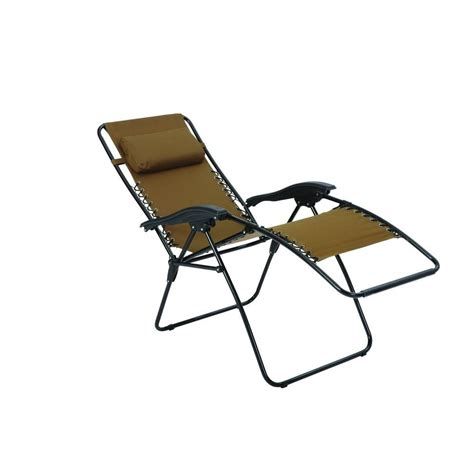 zero gravity chaise lounge zero gravity patio lounger chaise fc630 68015 the home depot