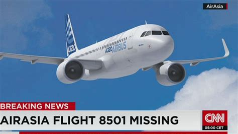breaking airasia plane with 162 aboard missing in airasia flight qz 8501 with 162 on board goes missing on