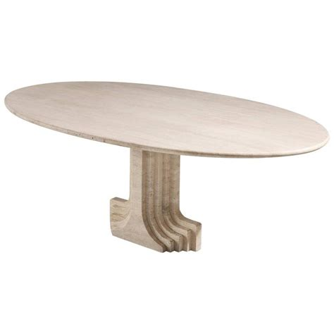 Travertine Dining Table For Sale Carlo Scarpa Dining Table In Travertine For Sale At 1stdibs
