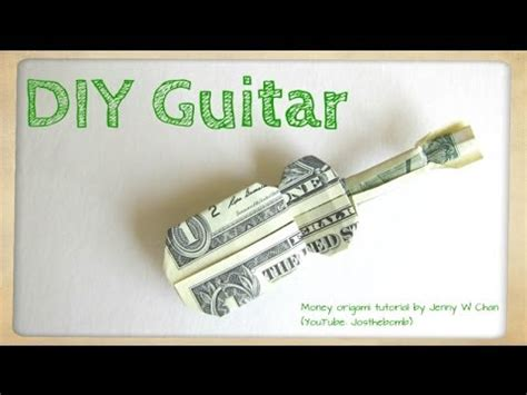 Origami Money Guitar - billete en forma de coraz 243 n para regalar manualidades