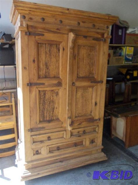knotty pine armoire large knotty pine armoire with rustic hardwar new