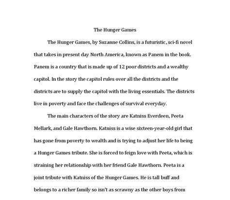 a book report on the hunger book report the hunger by suzanne collins is a