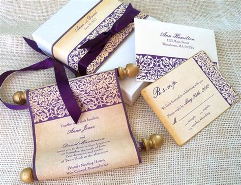 how to make scroll wedding invitations dreaded wedding scroll invitations theruntime