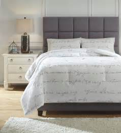 gray and white comforter sets queen adrianna white and gray queen comforter set from ashley