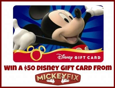 Bjs Disney Gift Cards - the win a 50 gift card from mickey fix contest closed disney gift card
