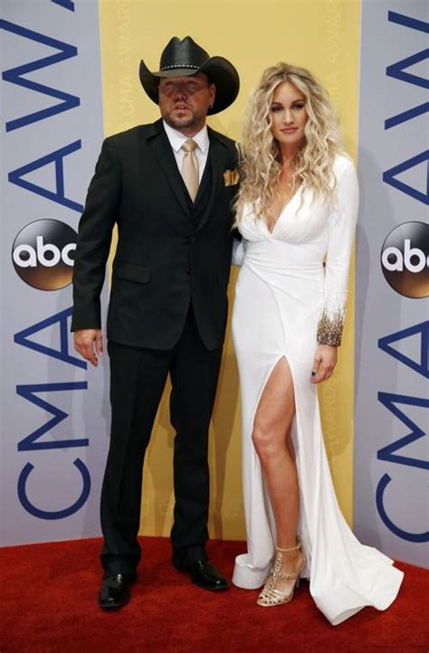 image gallery jason aldean cma awards 2016 jason aldean and his wife brittany kerr arrive at the
