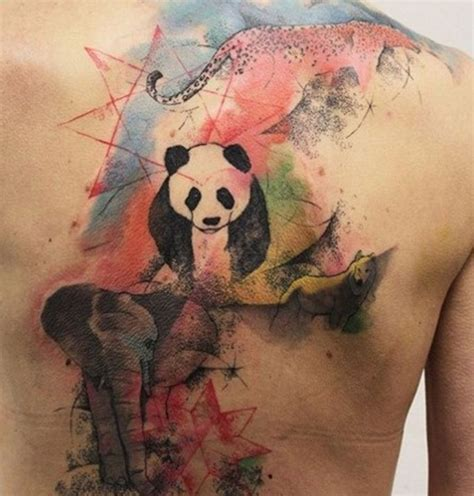 tattoo animal watercolor 12 animal tattoo images and designs