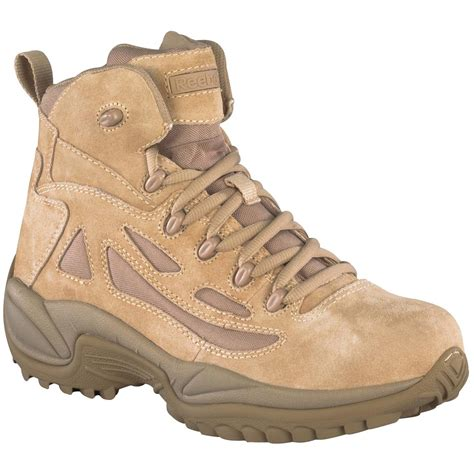 s reebok 174 6 quot side zip stealth tactical boots desert