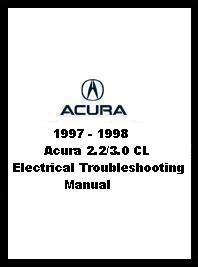 car repair manuals download 1997 acura cl user handbook 1997 1998 acura 2 2 3 0 cl electrical troubleshooting manual