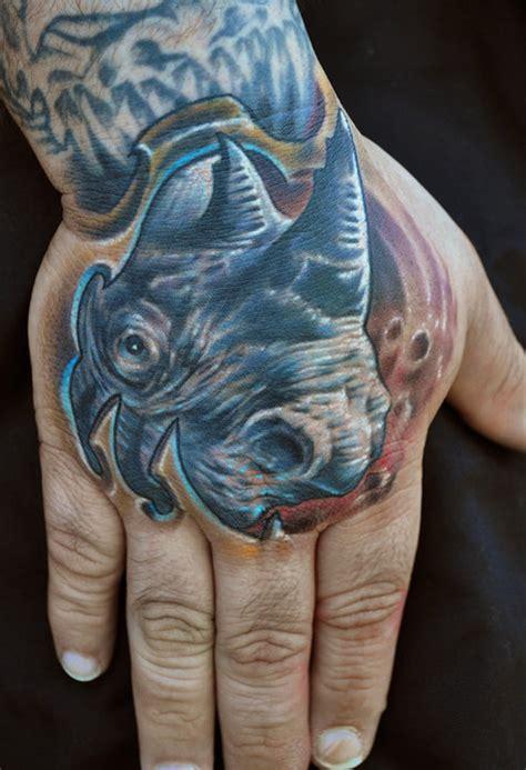 rhino pattern tattoo bio rhino tattoo picture