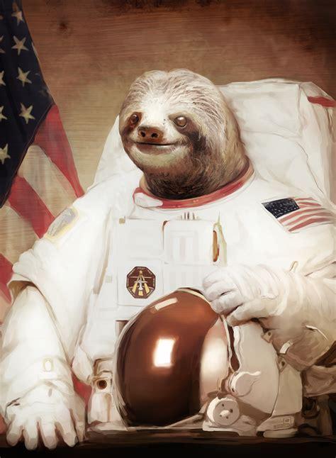 Astronaut Sloth Meme - astronaut sloth speedpaint by pheoniic on deviantart