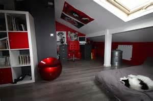 Good Idee Deco Chambre Mansardee #9: Decoration-deco-chambre-ado-garcon-deco-chambre-ado-garcon-rouge-concernant-meilleur-amazing-et-attractif-chambre-ado-fille-gris-et-rouge-dans-auxerre.jpg