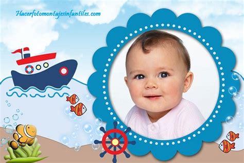 montajes y fotomontajes infantiles para ni os y bebes fotomontaje infantil con barquito y peces fotomontajes