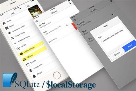 tutorial local storage ionic barebone ionic ionic marketplace