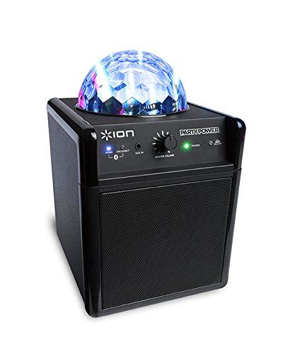 portable speaker with lights ion audio party power portable bluetooth speaker system