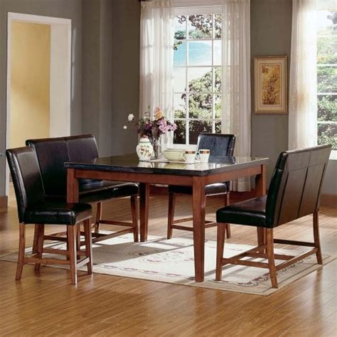 modern dining room set granite top dining table dining
