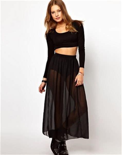 american apparel american apparel sheer maxi skirt at asos
