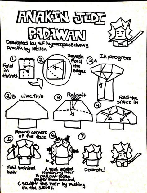 How To Make Origami Anakin Skywalker - how to make origami anakin skywalker alfaomega info