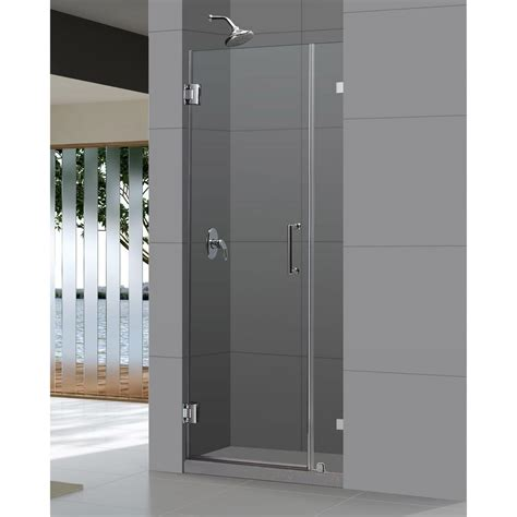 dreamline unidoorlux 34 in x 72 in frameless hinged