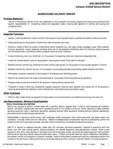 warehouse description resume resumes design