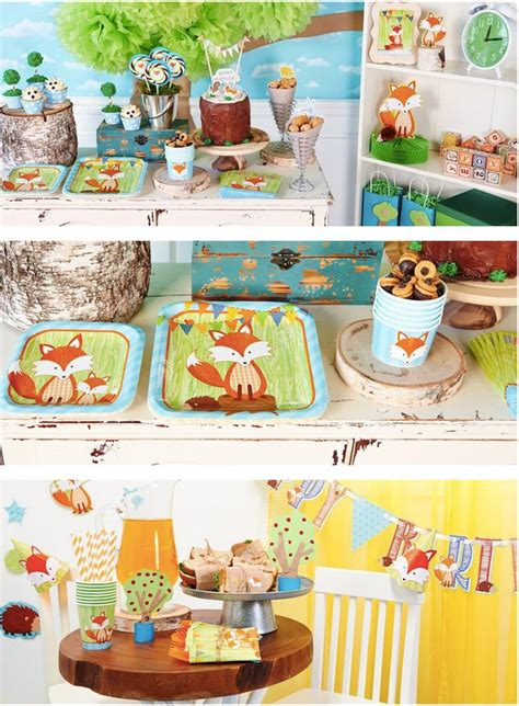 Woodland Animals Baby Shower Decorations by Gender Neutral Woodland Animals Baby Shower Supplies