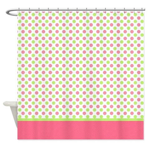 red polka dot shower curtain green pink polka dot shower curtain by
