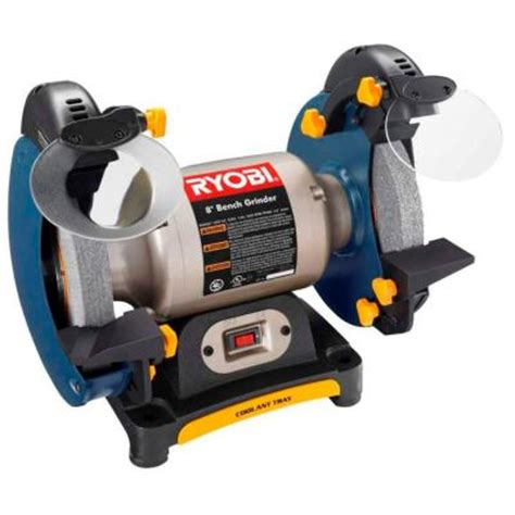 bench grinder 8 ryobi 8 in bench grinder bgh827 the home depot