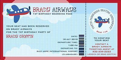 plane ticket invitation template free invites