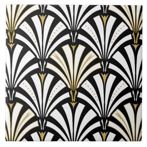 art deco tile art deco fan pattern black and white tile zazzle