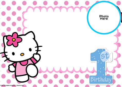 kitty st birthday invitation template