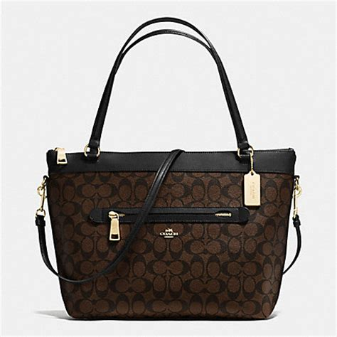 Tote In Signature 54690 Brown coach f54690 tote in signature handbags coach anyhandbag