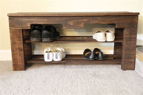 pallet shoe bench beautiful pallet shoe rack for your house