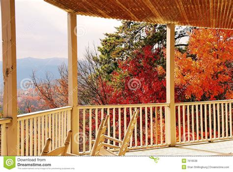 autumn view from porch royalty free stock photos image