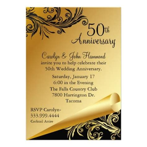 50 yr wedding anniversary 25 best ideas about wedding anniversary invitations on