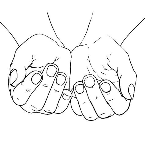 Cupped Outline by Cupped Coloring Pages Best Place To Color