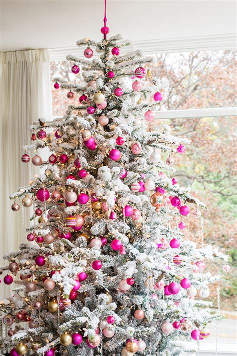 decorating a pink christmas tree top 40 pink trees celebration all about