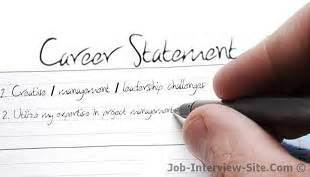 career statement exles of career objectives goals