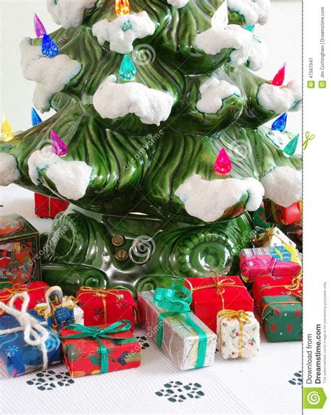 ceramic holiday gifts ceramic tree gifts stock photo image 47567941