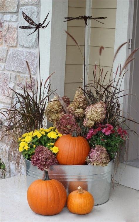 25 best ideas about fall planters on front