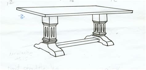 drawing of dinner table