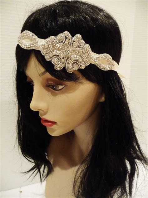 gatsby headpieces great gatsby bridal headpiece bridal rhinestone headpiece